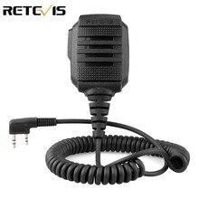 RETEVIS RS 114 IP54 กันน้ำลำโพงไมโครโฟนสำหรับKenwood RETEVIS H777 RT3S RT5R RT22 BAOFENG UV 5R UV 82 888S Walkie Talkie