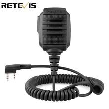 RETEVIS RS 114 IP54 impermeable altavoz micrófono Para Kenwood RETEVIS H777 RT3S RT5R RT22 BAOFENG UV 5R UV 82 888S Walkie Talkie