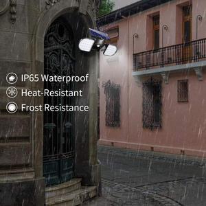 Image 5 - Solar Lights Outdoor 56 LED Solar Wall Lights with Motion Sensor Dual Head Spotlights 360° Adjustable Solar Motion Lights