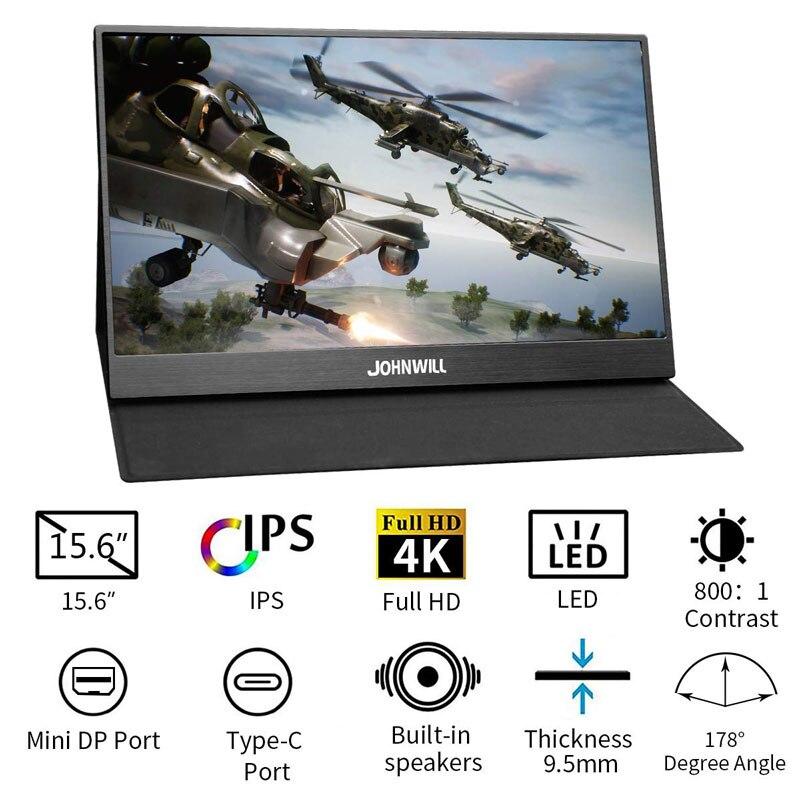 17.3 pouces HD 4K IPS Portable écran de jeu moniteur PC 3840X2160 pour PS3 PS4 Macbook 13.3 15.6 LCD USB C HDMI moniteur d'ordinateur - 3