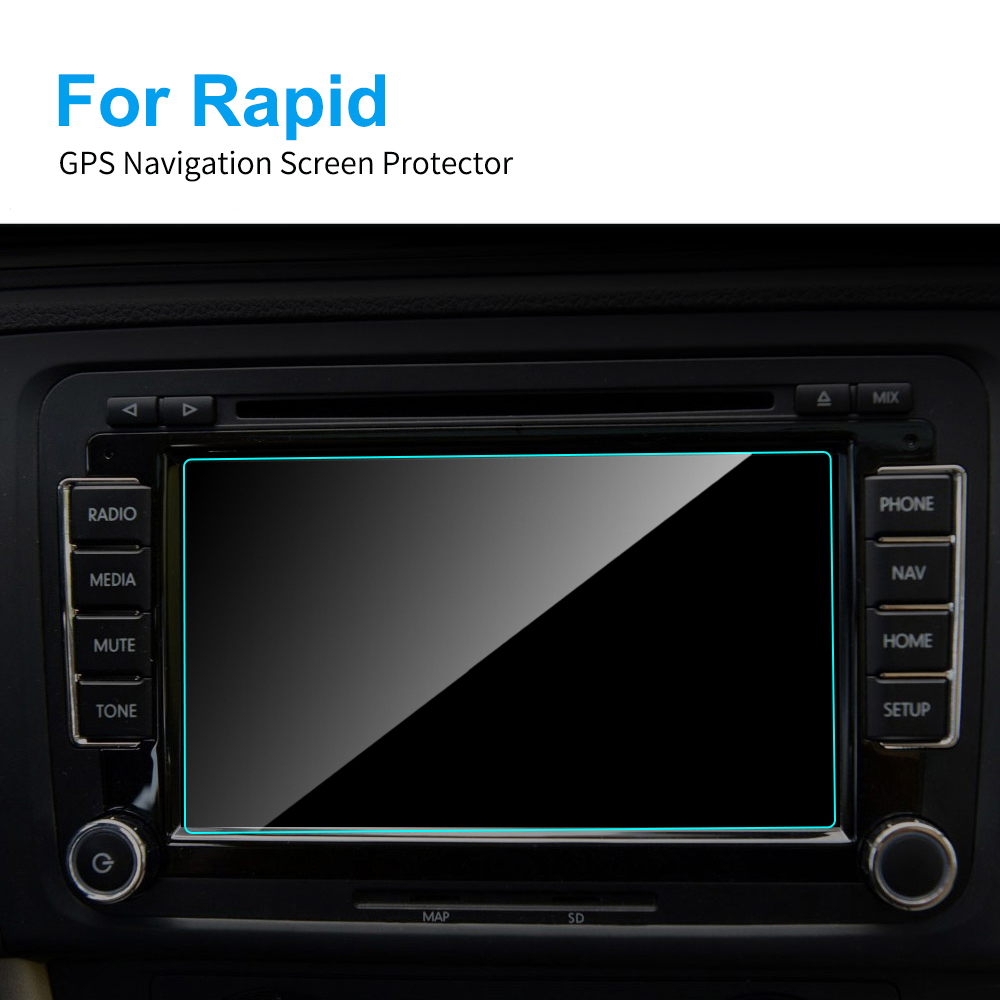 6.5 Inch For Skoda Rapid Car GPS Navigation Screen Protector Tempered Glass Screen Protective Film Auto Interior Accessories
