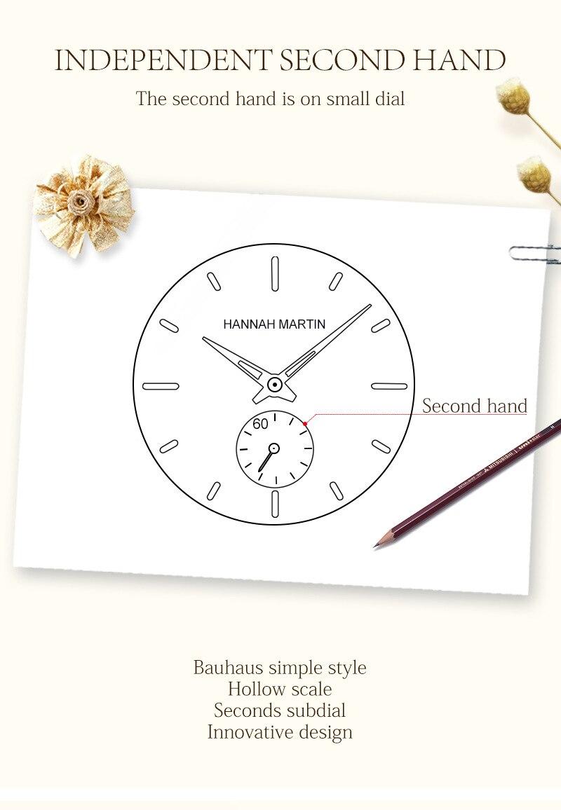 segundo relógio de aço inoxidável