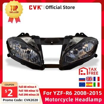 цена на CVK Motorcycle Headlight Headlamp Head Light For YAMAHA YZF 600 R6 2008 2009 2010 2011 2012 2013 2014 2015 YZF-R6 08-15 Lamp