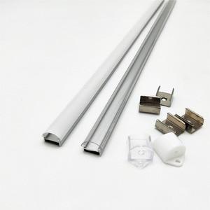Image 2 - 10 100m muito, 1m por pces, perfil de alumínio led para 5050/5630 tiras HR AP1509, habitação plana frete grátis leitoso capa clara