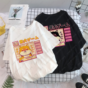 Aesthetic Camisas Mujer Harajuku T-Shirt Kawaii Cute Shiba Inu Doge Print Summer Korean Streetwear Women chic casual Tops Tees(China)