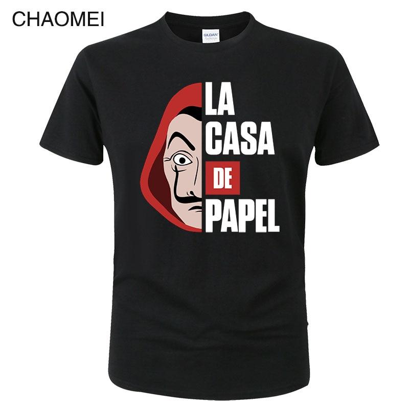 Men Women T Shirt Cool Money Heist The House of Paper La Casa De Papel Print Tshirt Funny Cotton Tee Summer Tops Clothing C215