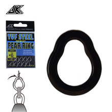 JK 3packs 110-400LB Pear Ring Fishing Heavy Tear Drop Link Loop 3456# Seamless Solid For DIY Assist Hook Connector Lure Jig
