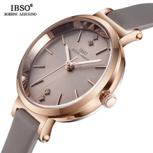 IBSO 8 MM Ultra Thin Wrist Women Watches Luxury Female Clock Fashion Montre Femme 2020 Ladies Quartz Watch Relogio Feminino