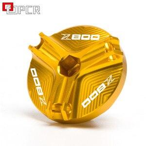 Image 5 - Motocicleta m20 * 2.5 cnc copo do filtro de óleo do motor plug capa parafuso para kawasaki z800 z 800 2013 2016 2014 2015