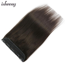 Hair-Clips Clip-In Human-Hair-Extension Tac Tic Isheeny Straight 14-18-22-1pc Remy Brazilian