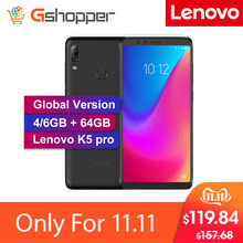 Lenovo K5 Pro Global Version 4050mAh 4GB 64GB Four Cameras 5.99inch Mobile Phone 18:9 Snapdragon636 Octa Core 4G LTE Smartphone