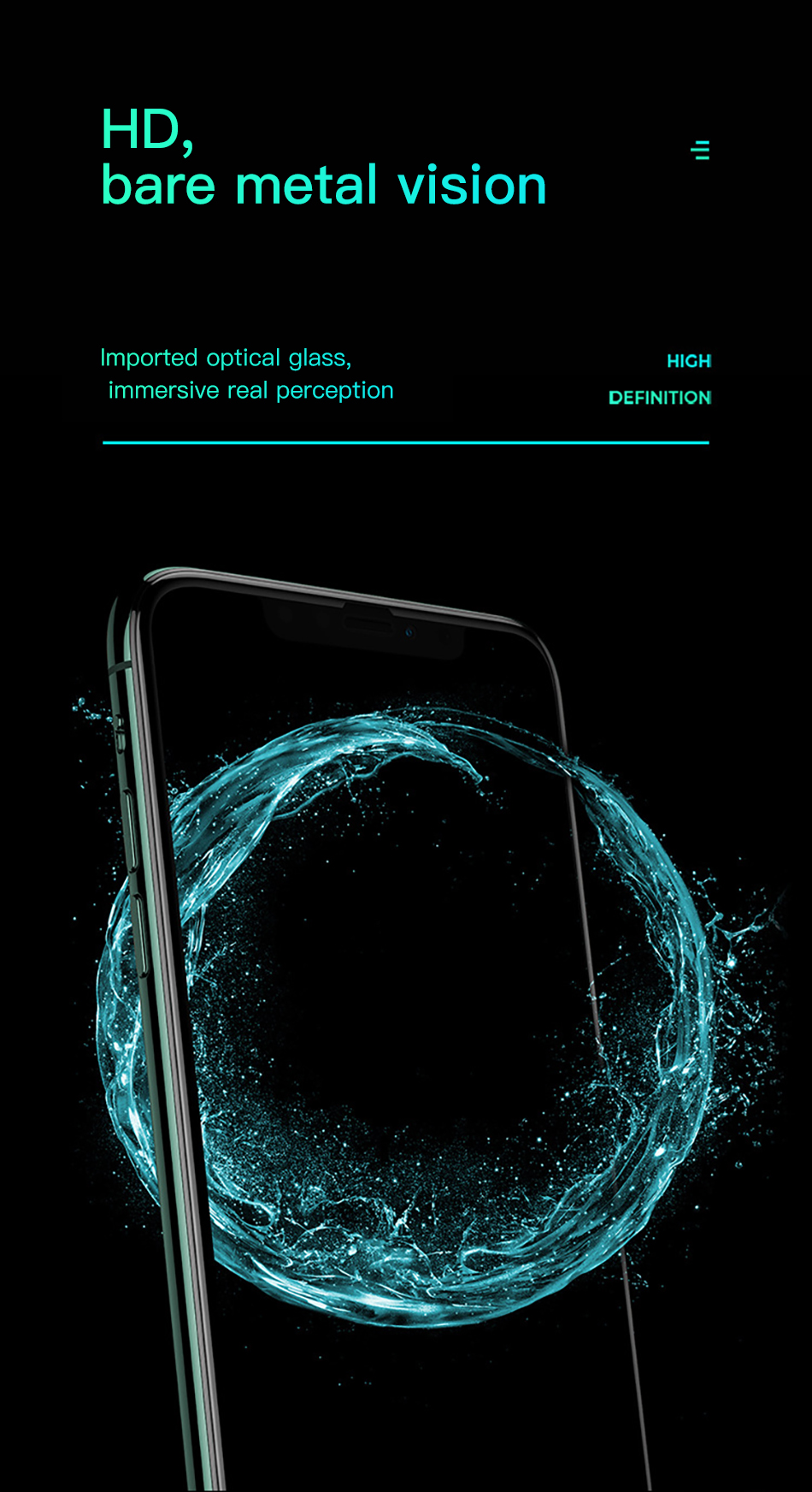 Benks XPRO 3D Curved Edge Screen protector Glass 0.3mm For iPhone 11 Pro MAX XR X XS Full Cover Protective Tempered Glass Film (8)