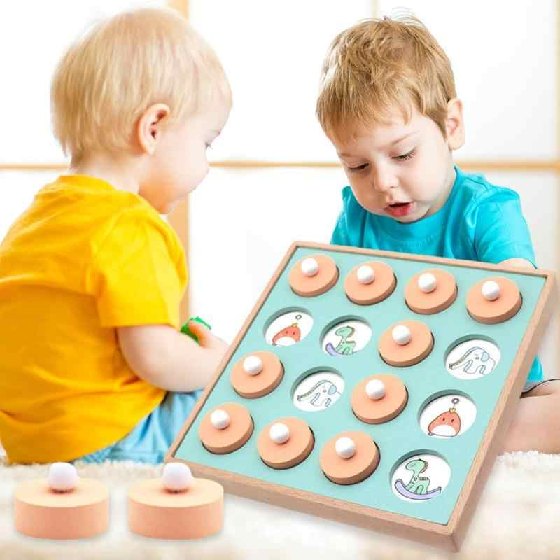 Kids Wooden Memory Match Chess Set New and High Quality Game Toys Lightweight and Delicate for Children Early Educational Gift
