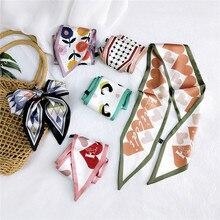 New Sharp corner Scarf Women 's All -match Neckerchief Ribbon Wrist Bag Package Belt Korean Style Changeable Hair Band