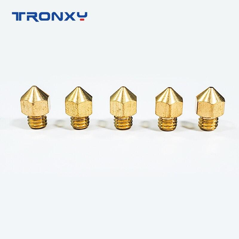 cheapest Tronxy 3D printer copper Nozzle with 3D PRINTER Extruder nozzle size 0 2mm 0 3mm 0 4mm