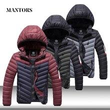 แจ็คเก็ตผู้ชายฤดูหนาว Casual Parka Hooded Coats บุรุษผ้าฝ้ายหนา Tracksuit ชายฤดูหนาว WARM Parkas Outwear Coat