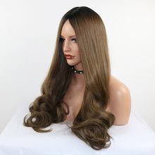 European Virgin Human Hair Ombre Color 4x4 Silk Top Kosher Wig Jewish Hair Wig For White Women Style(Customized 40-50 Days
