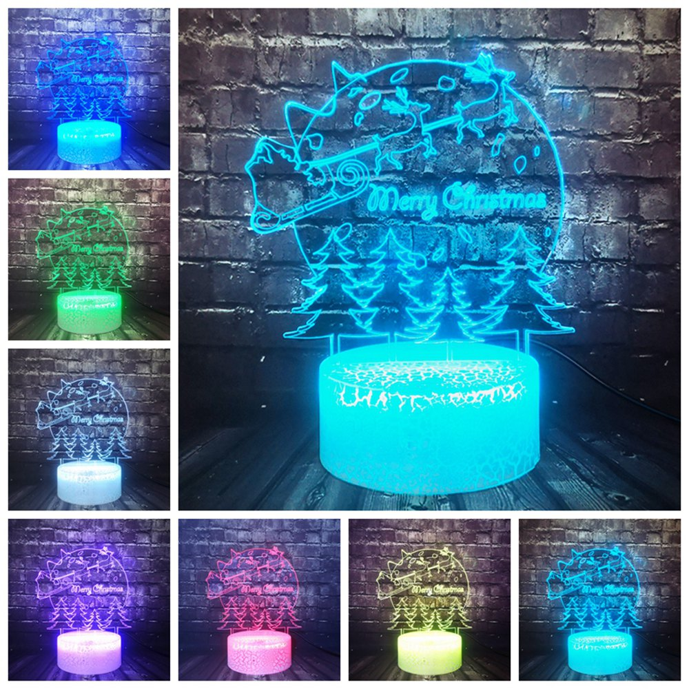 Christmas Holiday Birthday Friend New Year Gift Tree Decor snowman Lava 7 Color Change LED Kid Night Light Sleep Mood Table Lamp image