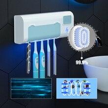 Toothbrush Sterilizer Wall-Mounted Bathroom Smart-Induction Cleaner-Holder Uv-Light Antibacteria