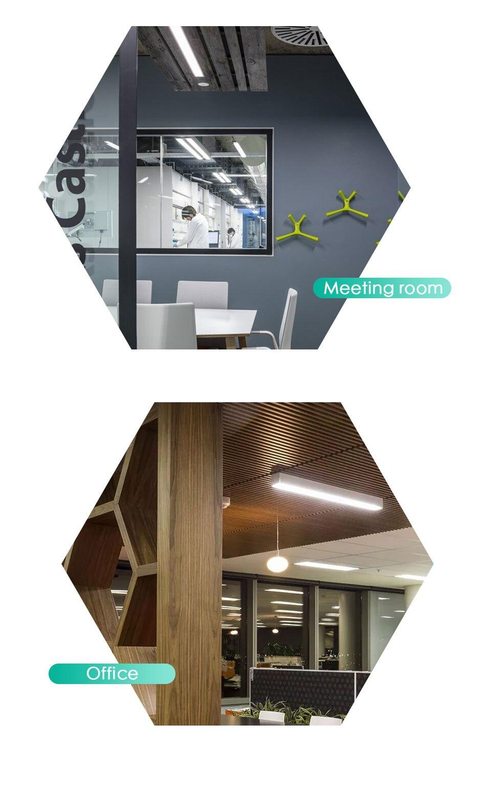 Hac17bae3e6684c9092c9f265b52187e9B Modern LED Ceiling Light Lamp Lighting Fixture Rectangle Office Remote Bedroom Surface Mount Living Room Panel Control 110V 220V