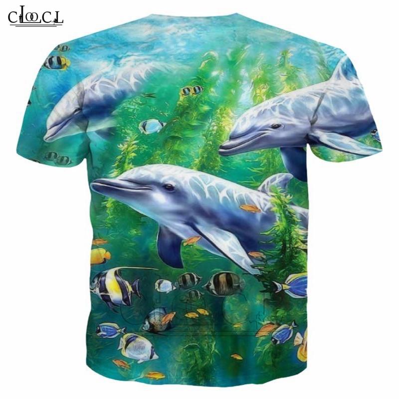 Dolphin T Shirt Men Short Sleeve 3D Print T Shirt Fashion Summer Cute Ocean Animal Harajuku Tops Couple Cool Tops B58 1
