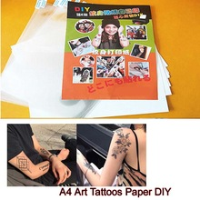 10Sets A4 Art Tattoos Paper DIY Waterproof Temporary Tattoo Skin Paper with Inkjet  laser Printing Printers For Men Children