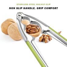 Нержавеющая сталь Щелкунчик толстый цинковый сплав зеленая ручка грецкий орех зажимы пилинг орех клип оболочки выключатель дома Кухонные гаджеты