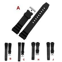 Novo casio plutônio pulseira 16mm 18mm 20mm 22mm silicone pulseira de relógio para casio g choque eletrônico relógio de substituição cinta