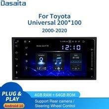 "7 ""Android 10.0 Unversal 2 din Autoradio per Toyota Corolla Camry Prado RAV4 Highlander Tundra GPS 4G RAM 64G ROM DSP HDMI"
