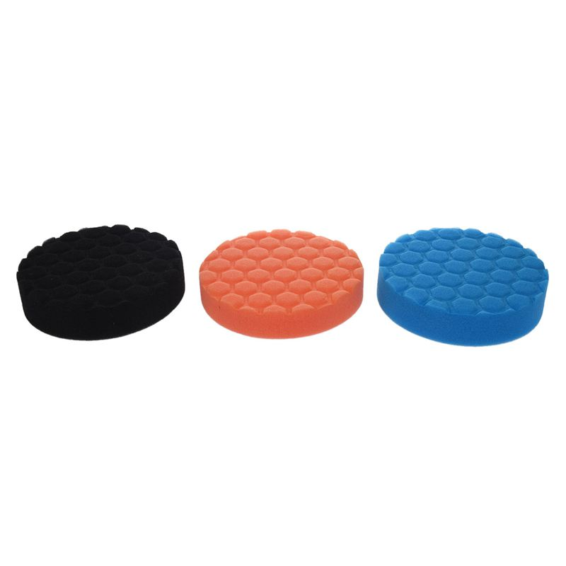 3x Hex-Logic Buff Buffering Polishing Pad Kit For Auto Car Polisher 5 Inch