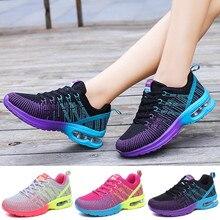 Femmes Baskets Air Semelle Athlétique Chaussures de Course à lacets Respirant Jogging Chaussures De Loisirs de Sport En Plein Air