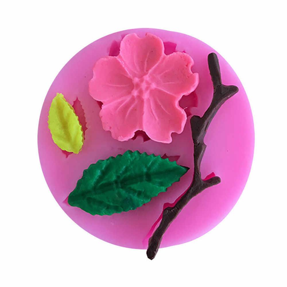 Формы для выпечки в форме цветка персика, инструменты для украшения торта, силиконовые формы для рукоделия, 3d кухонные аксессуары, формы F725