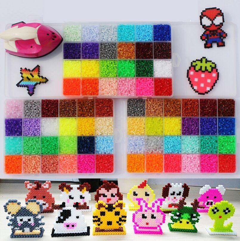 6500pcs/bag 2.6mm Hama Beads Mixcolors For Choose Kids Education Diy Toys 100% Quality Guarantee Fuse Beads Wholesale