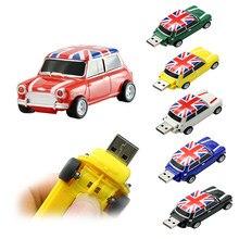 Pendrive personalizado de Mini Cooper para coche unidad Flash USB 2,0 extraíble, 4, 16, 32, 64, 128, 8, 256 GB, palo de plástico