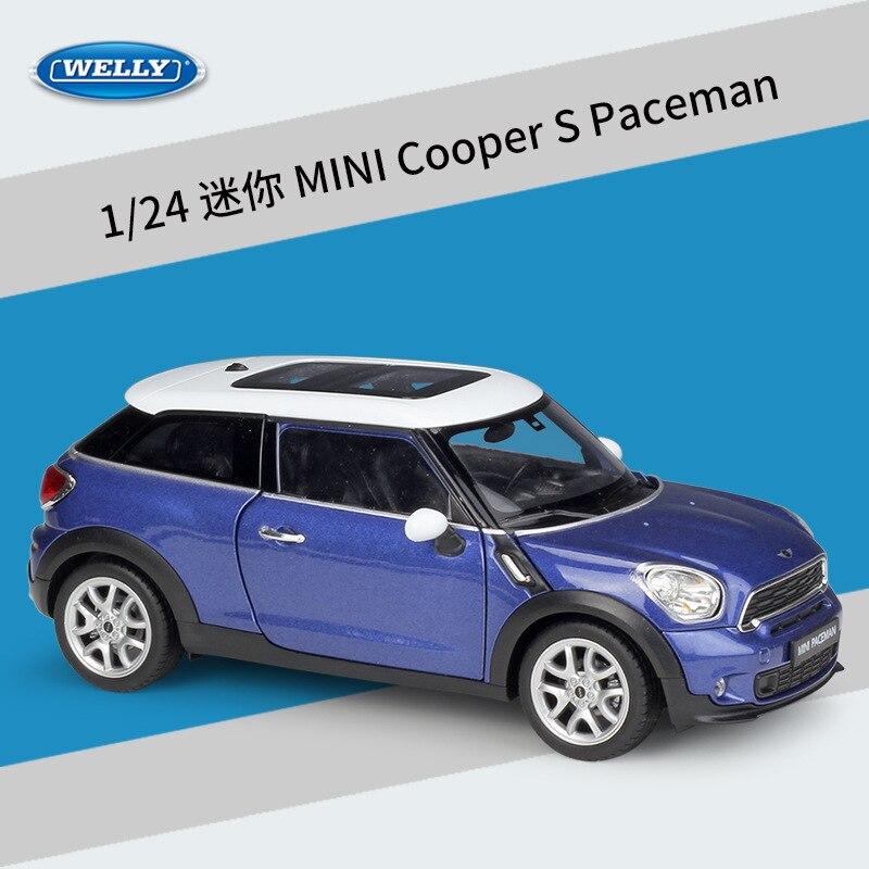BWM MINI COOPER S 1:32 Model Cars Toys Sound/&Light Alloy Diecast Gifts Blue New