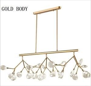Image 5 - Moderno led novas luzes pingente criativo firfly preto ouro retângulo pingente lâmpada para sala de jantar cozinha