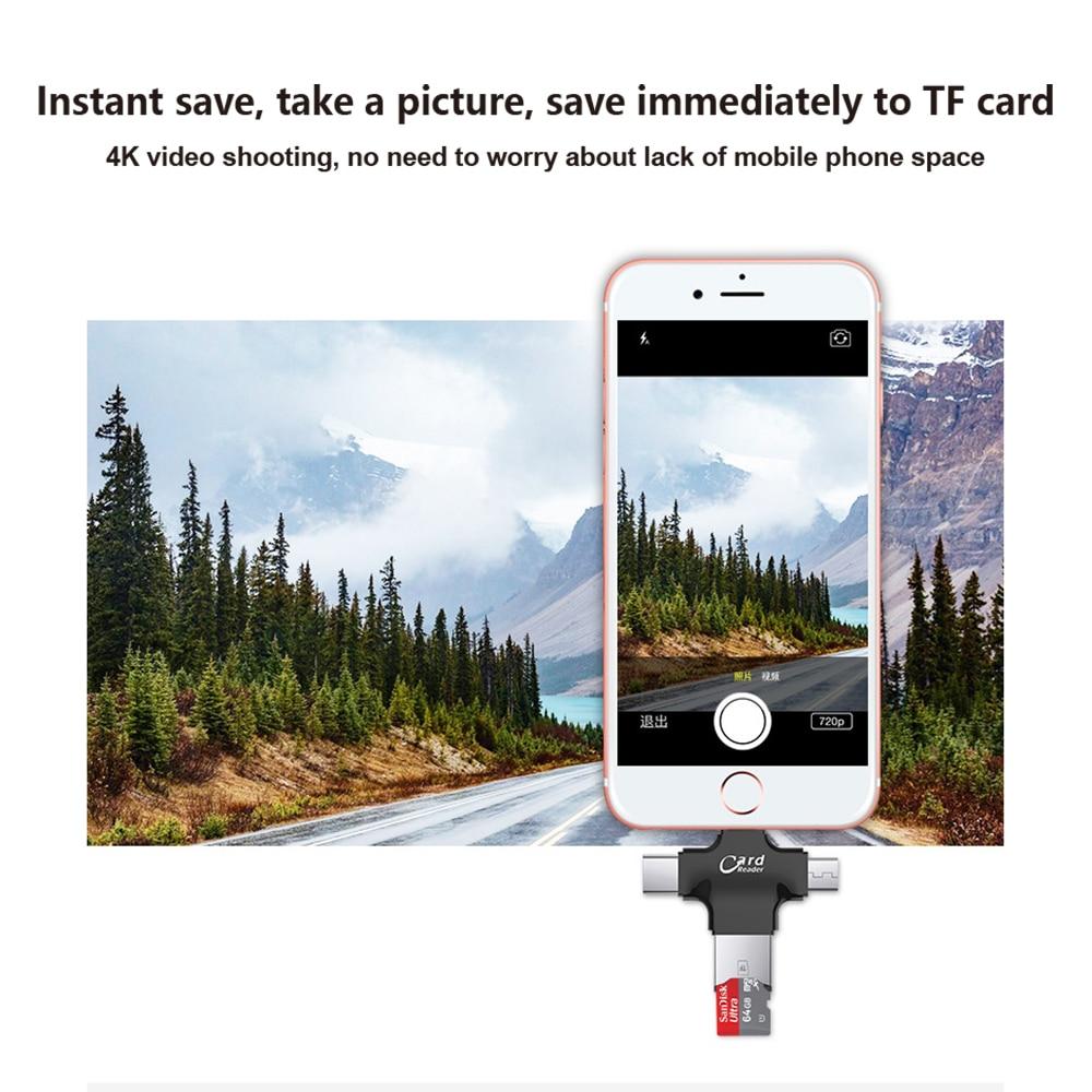 USB i-Flash Drive HD Micro SD/TF Memory Card Reader Adapter For iPhone iPad iPod iphone 5 6 7 type c card readers lighting 5