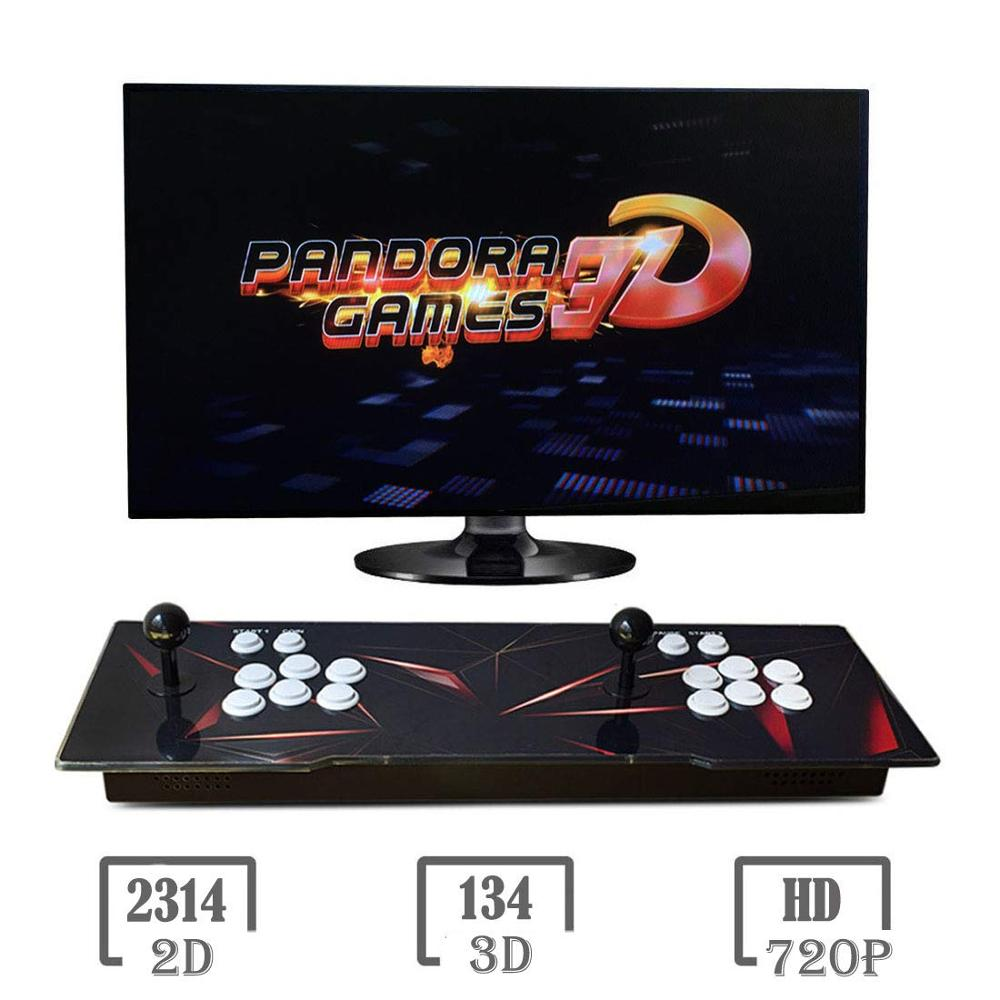 NEW Pandora Box 3d WiFi 2448 In 1 Classic Home Console WiFi Arcade Game Device Dual Joystick HDMI VGA Interface