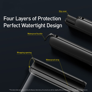Image 5 - Baseus 7.2 inç su geçirmez telefon kılıfı çanta yüzme kiti evrensel cep telefonu kılıfı telefon kılıfı kapak Drift dalış sörf
