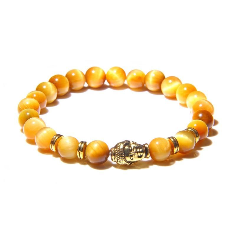 Natural stone Buddha bracelet