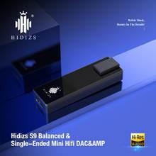 Hidizs s9 contrata amplificador de auscultadores de alta fidelidade decodificação usb tipo c dac para 3.5 & 2.5mm adaptador dac amp para telefones/pc portátil áudio para fora