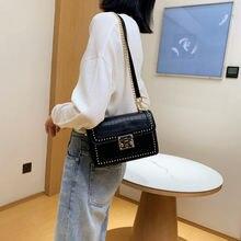 Retro high quality small square bag female2021new trendy fashion