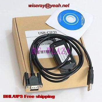 DHL/EMS 10pcs Programming cable USB-CIF31 for Omron PLC USB to RS232 conversion adapter-A5
