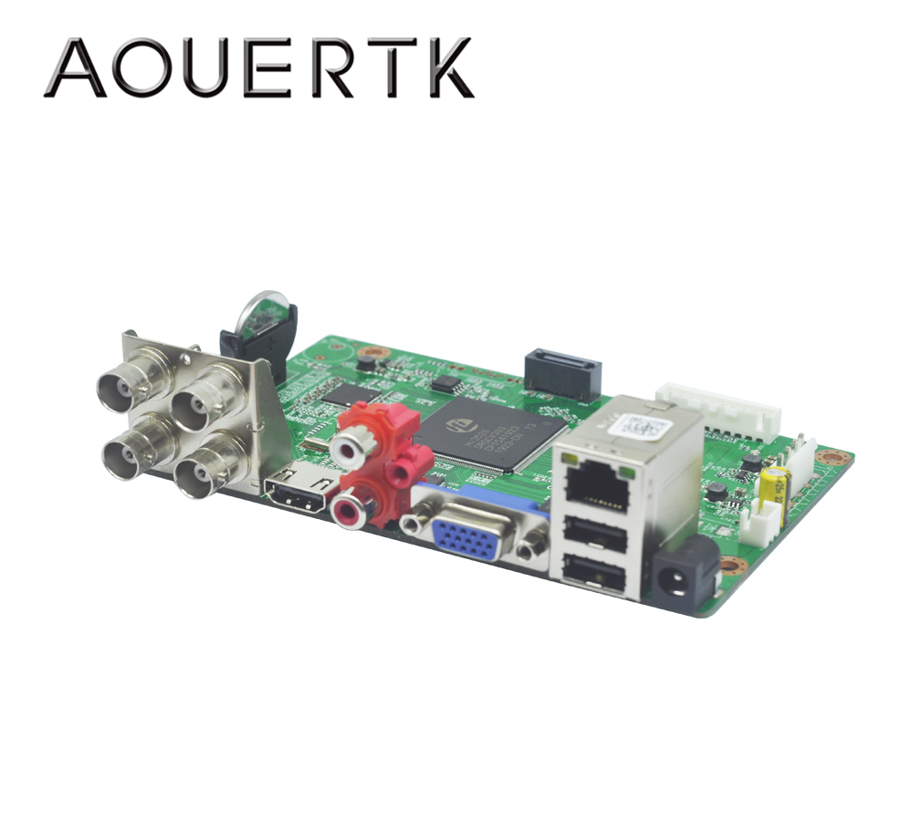 AOUERTK 1080P 1080N 5MP 5in1AHD  CVI TVI CVBS 4CH CCTV DVR board support Motion Detection and 5 Record mode