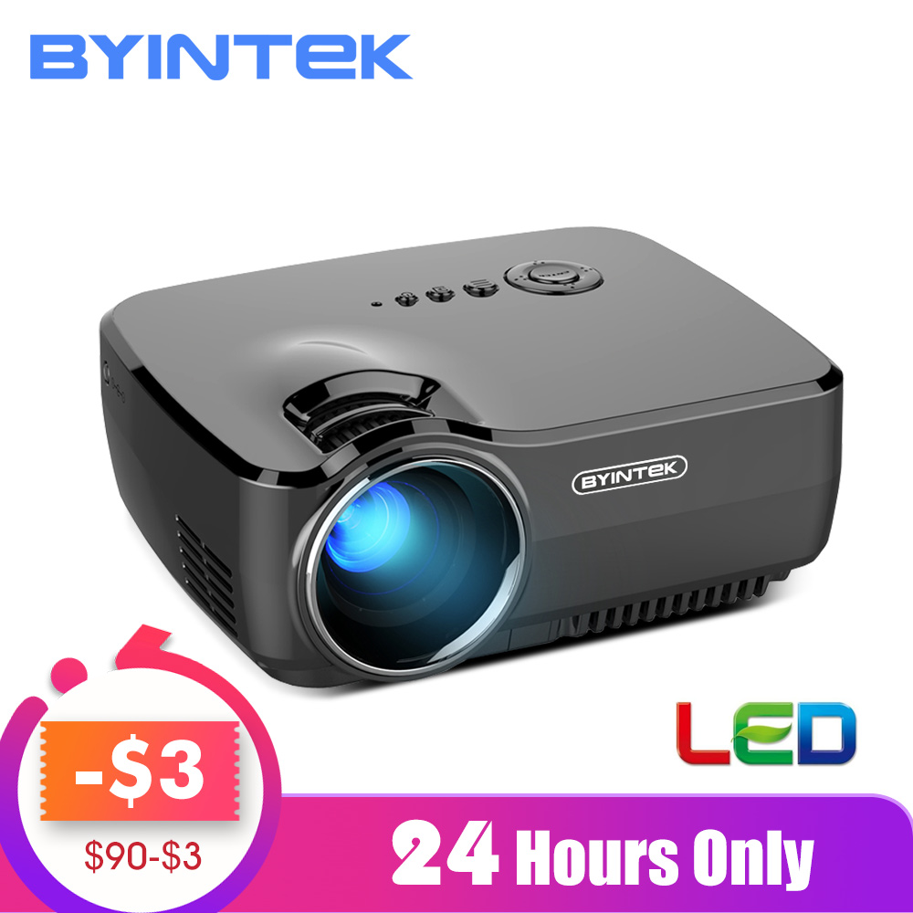 BYINTEK Brand SKY GP70 Portable Mini LED Cinema Video Digital HD Home Theater Projector  Family Gift