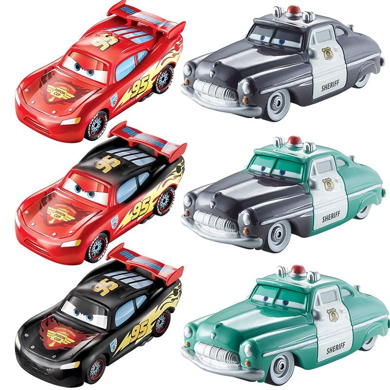 Disney Pixar arabalar renk değiştirici Dinoco yıldırım McQueen araç 1:55 Diecast plastik Model araba koleksiyonu çocuk oyuncağı mevcut