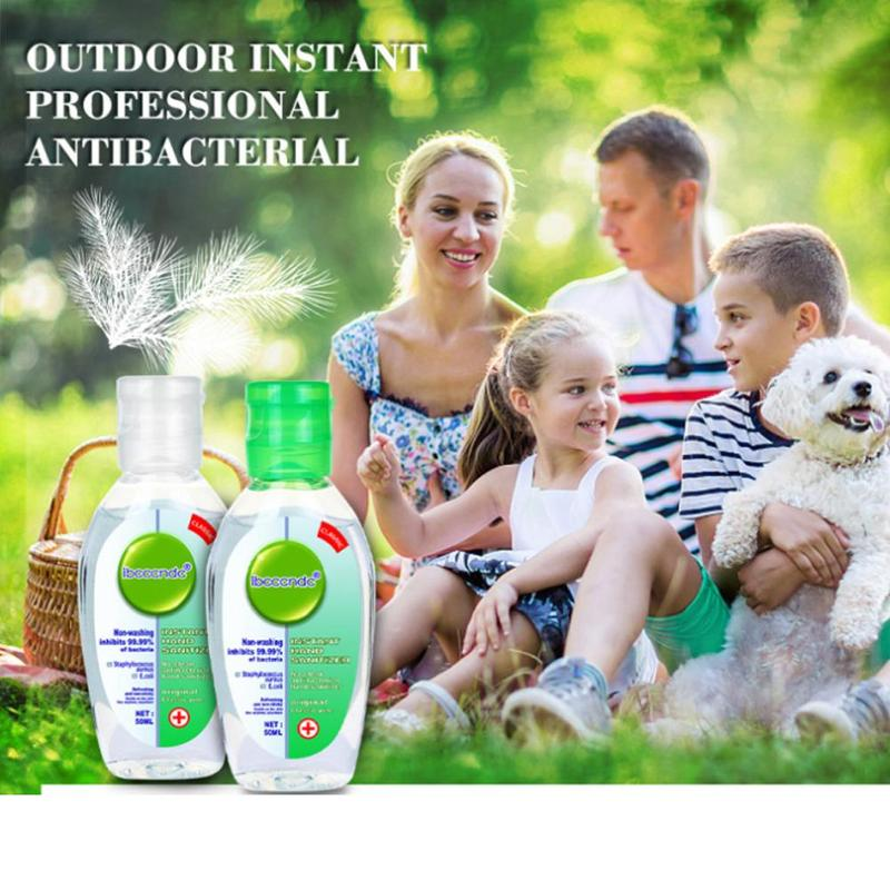 50ml Travel Portable Cute Antibacterial Disposable Disinfection Gel Disposable Quick-Dry Wipe Out Bacteria Hand Sanitizer Soap