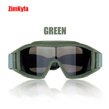 Tático swat militar paintball 3 lente pcp olho wear óculos de proteção para os olhos máscara