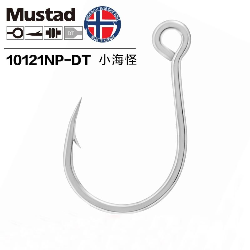 Authentic Mustad 10121 High Carbon Steel Hook Barbed Hook Jigbait Lure Hook Sea Fishing Black Fish Hook Snakehead Fishing Pesca