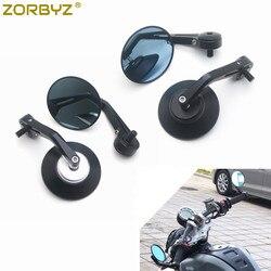 ZORBYZ, 1 пара, черное алюминиевое круглое боковое зеркало на руль мотоцикла с болтом M10, подходит для Aprilia FB Global HPS 300